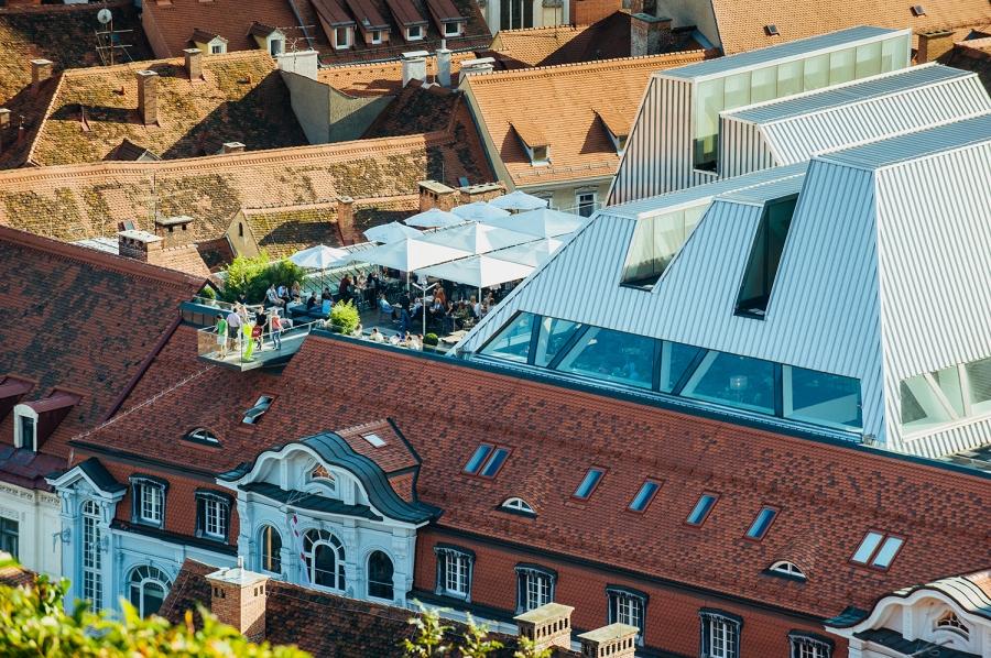 Im Tagescafé Freiblick kann man einen 360° Panoramablick über Graz genießen. © http://freiblick.co.at/