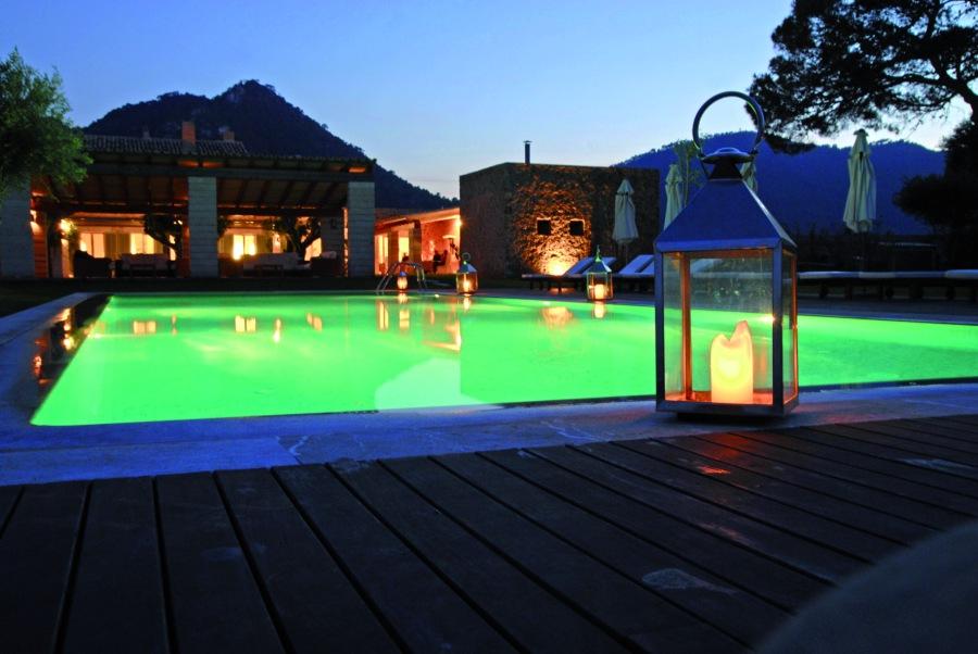 Im Can Simoneta kann man zu jeder Tages- und Nachtzeit entspannen.