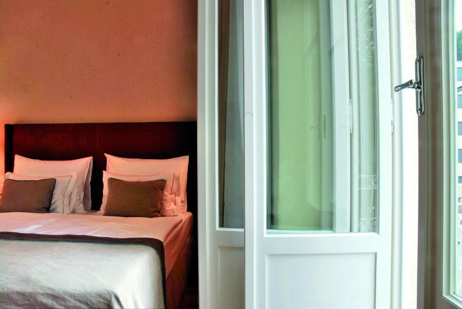 Die Zimmer im Hotel & Villa Auersperg sind modern ausgestattet.