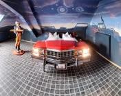 Themenzimmer Autokino im V8 Hotel im Meilenwerk Stuttgart auf dem Flugfeld Boeblingen.Themed Room Drive in Cinema