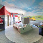 V8Hotel - Themenzimmer Rennsport- in der MOTORWORLD Region Stuttgart auf dem Flugfeld Boeblingen.