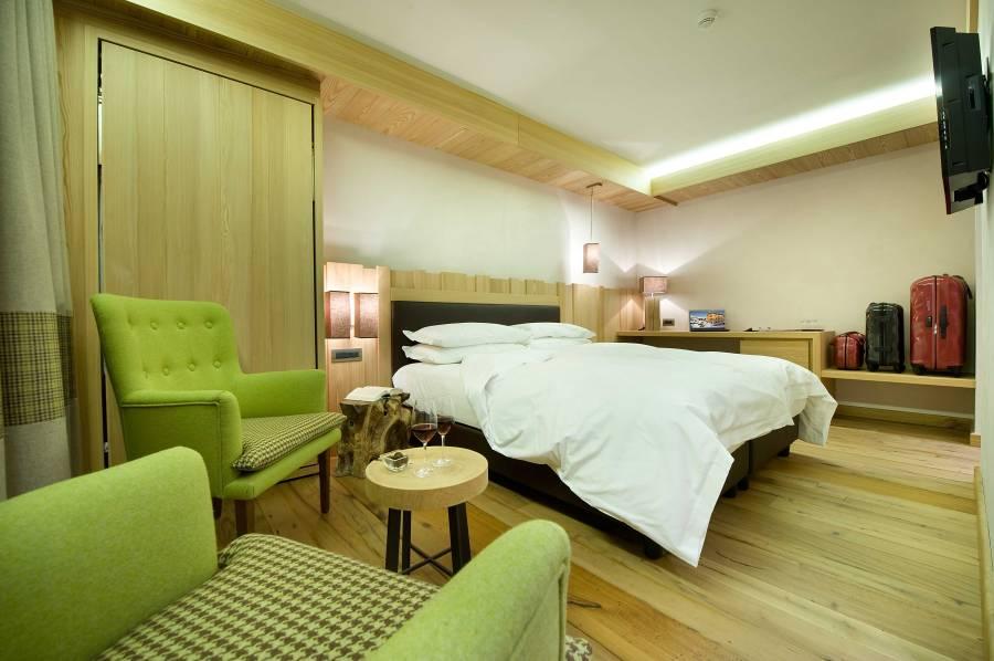 Auch die Zimmern sind nachhaltig gestaltet und CO2 neutral.