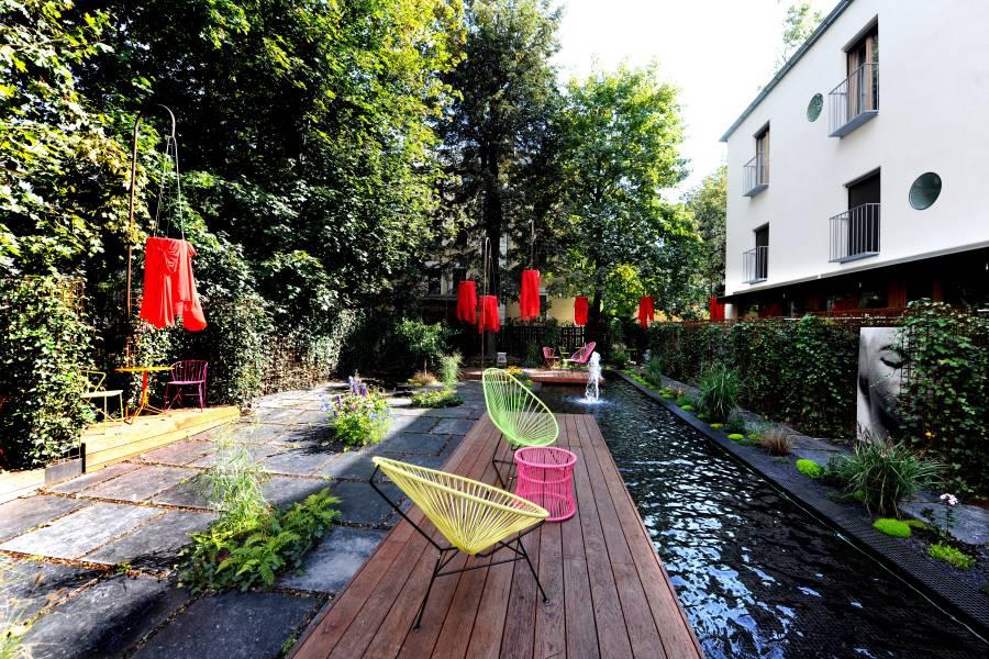 Die Philosophie des Hotels lautet: Mitten in der Stadt und doch im Grünen!