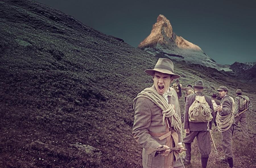 """Anlässlich zum 150 Jahre Jubiläum der Gipfeleroberung wird das Freilichtspiel """"THE MATTERHORN STORY"""" aufgeführt. Foto: ©The Matterhorn Story"""