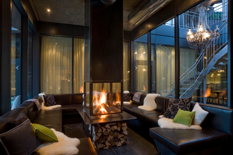 LIFESTYLEHOTELS Matterhorn Focus (5) - Fireplace Lounge